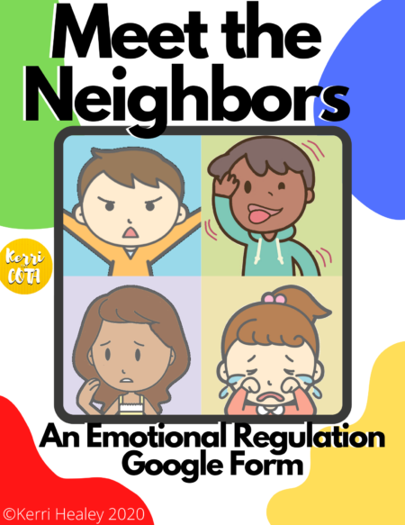 If you need to work on emotional regulation via telehealth or distance learning, Meet the Neighbors Emotional Regulation activity is FUN and ENGAGING to play with your students.