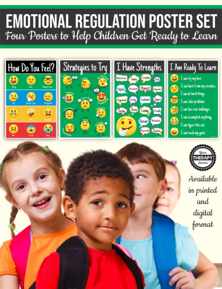 This Emotional Regulation Skills PDF and/or Posters can help provide visual reminders and activities to promote regulation in the classroom and at home.