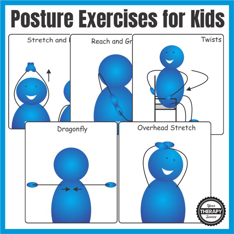 Photo of Posture exercises for children at school or at home