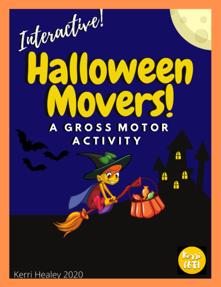 Looking for fun, NO PREP, Halloween gross motor activities? This Halloween Movers Gross Motor Adventure was created by Kerri Healey, COTA.