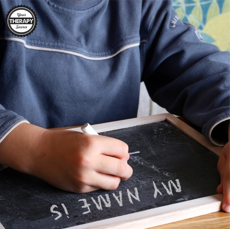 Photo of Practice of writing names and knowing letters