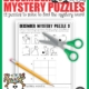 The December Puzzles Printable digital download includes 12 mystery puzzles to challenge your student's fine motor skills, spatial reasoning, visual closure, visual motor and handwriting skills!