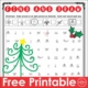 The December Find and Draw free PDF printable page challenges children's visual scanning, visual discrimination, and visual motor skills.