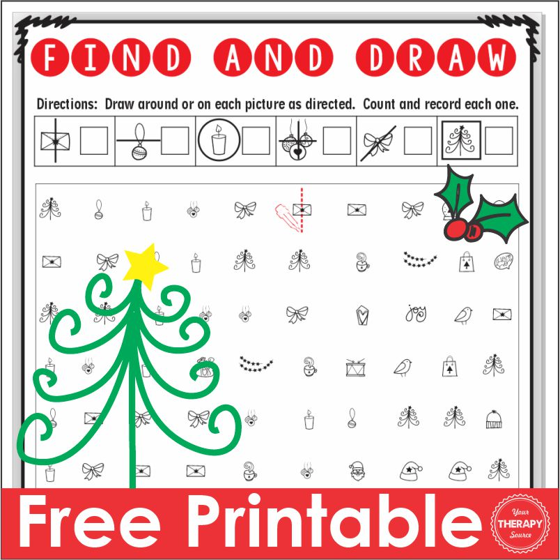 Photo of December Find and Draw Free PDF