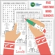 This free Christmas Word Search packet includes 3 different levels - easy, medium, and hard AND a handwriting recording sheet page.