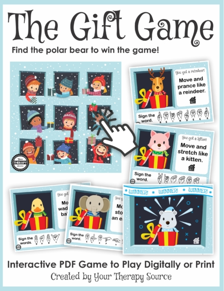 Check out this Holiday Game for Kids - The Gift Game to get your kids working on fine motor and gross motor skills
