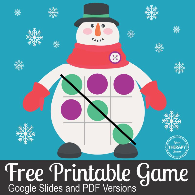 This FREE Winter Tic Tac Toe game can bring snowman fun to where ever you live! You can download it for free