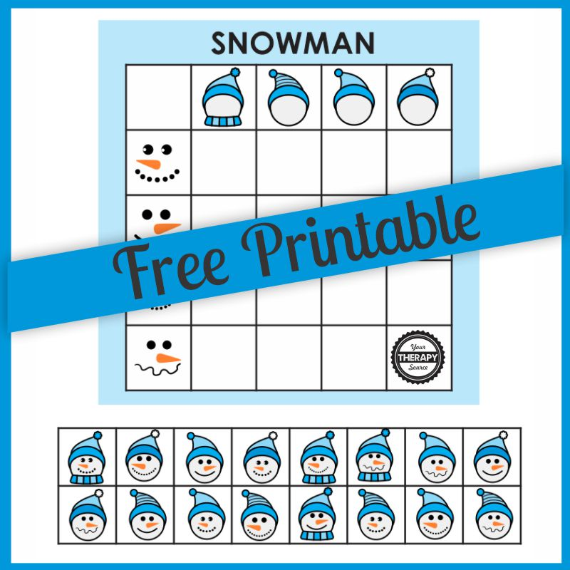 This Snowman Math Game free printable can be downloaded for free at the bottom of this post to bring a Winter theme to your next lesson.
