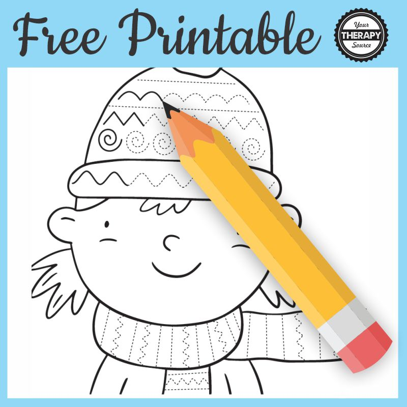 Photo of Winter Tracing Worksheets – Printable Free