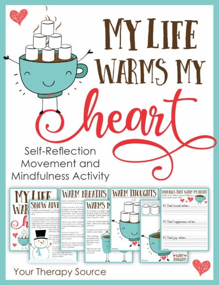 This Winter Mindfulness and Movement Activity will walk your students through a peaceful self-reflection journey on feelings that warm the heart while practicing motor skills and handwriting.