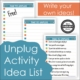 If you want to celebrate and take a break, here are some great ideas for an unplug day anytime of the year.