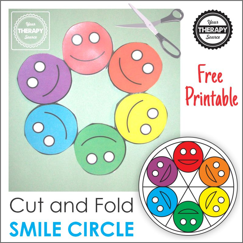 Here is a FUN smiley craft activity that will challenge children's abilities to follow directions, fold, and cut paper all on one single page!