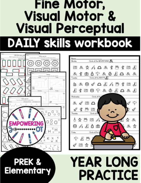 Created by an experienced school-based OT, this fine motor skills worksheets packet is the resource you NEED for daily practice!