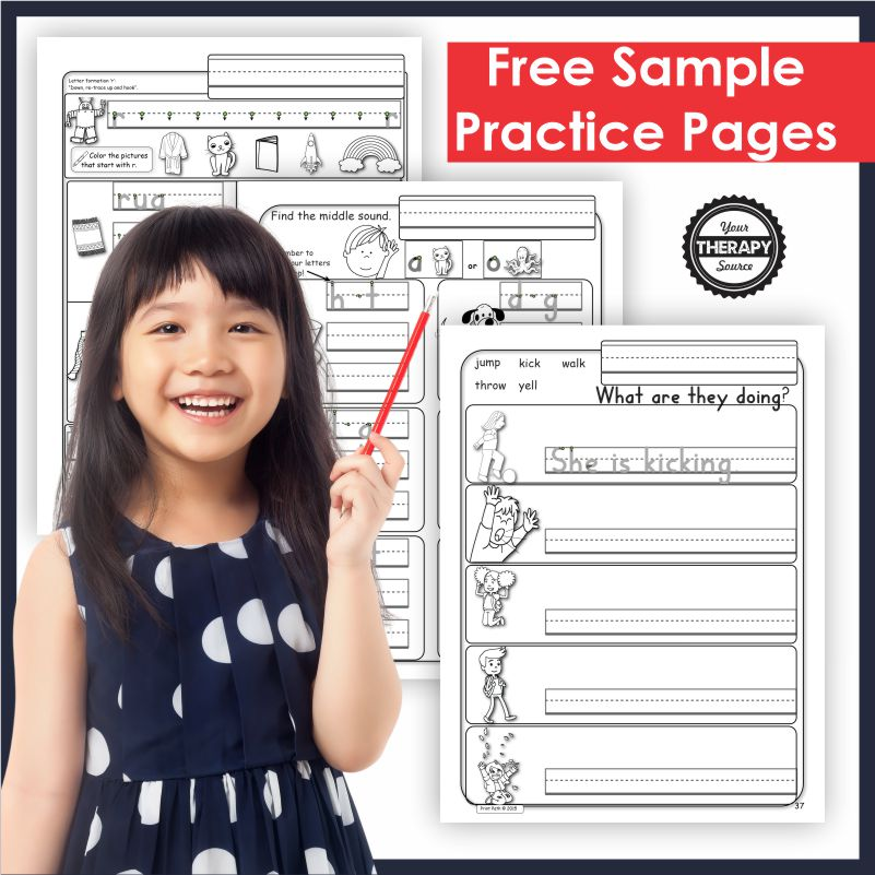 Photo of Free Kindergarten Handwriting Worksheets – Sample Pages