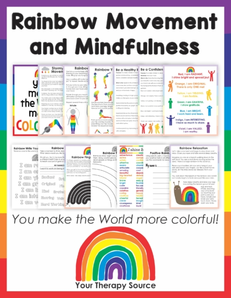 This RainbowMindfulness and Movement Activity will walk your students through a peaceful journey on their colorful strengths while practicing motor skills and handwriting.