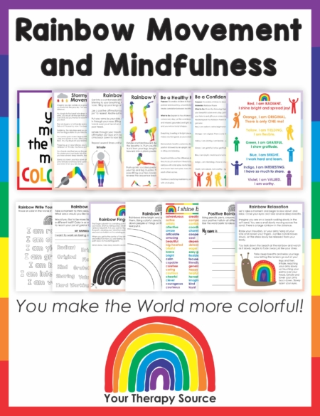 This Rainbow Mindfulness and Movement Activity will walk your students through a peaceful journey on their colorful strengths while practicing motor skills and handwriting.