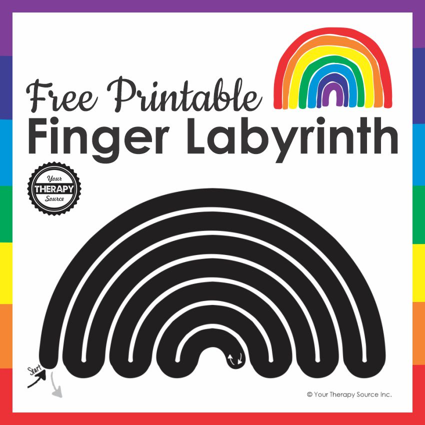 This Finger Labyrinth printable is a winding path for you to trace to relax and calm your body. You can download it for free.