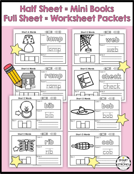 These CVC Word Worksheets are for early learners who are starting to learn, read, and write CVC sight words.