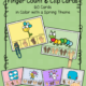 Check out this set of 60 Spring Finger Count and Clip Cards to encourage counting, and hand strengthening.