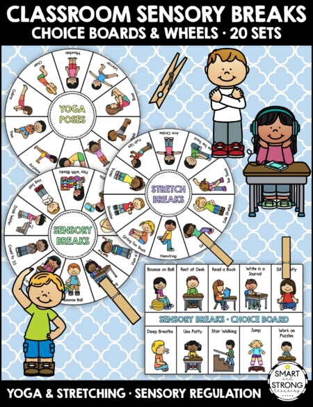 Do you need sensory choice boards for your students? Created by Christine, OTR, these choice boards are wonderful for classroom or home sensory breaks.