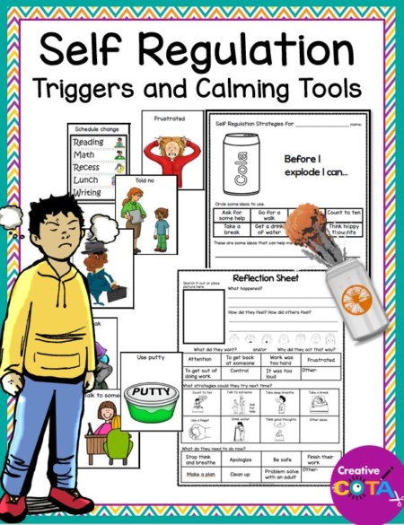 Created by a Certified Occupational Therapy Assistant, this Self Regulation Triggers and Calming Tools Resource is ready to go to help your students succeed.