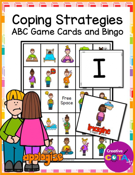 Have fun reviewing and mastering any self regulation curriculum with this Coping Skills Alphabet and Bingo Boards digital packet.