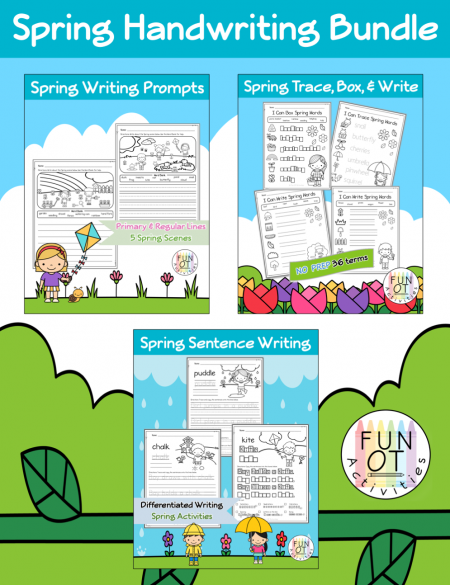Created by Samantha, OTR/L, of Fun OT Activities, this Spring Time Handwriting bundle will be sure to keep your students engaged while practicing handwriting.