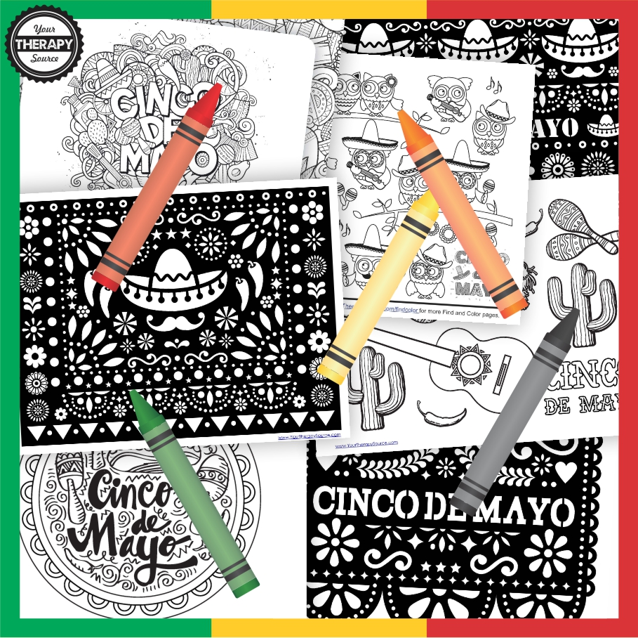 Need to entertain the kids for on May 5th? Check out this completely FREE Cinco De Mayo coloring pages digital download.