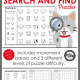 This digital download of the Animal Seek and Find PDF packet requires no prep at all, just print and go. The kids will love this!