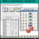 Created by a Certified Occupational Therapy Assistant, this Roll a Sentence PDF digital packet is a self regulation writing activity and worksheet set with a Winter, Spring, Summer, and Fall theme.