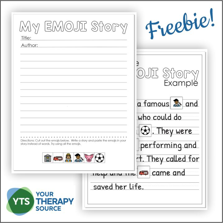 Check out this Emoji Story Writing worksheet. You can download it for free at the bottom of the post.