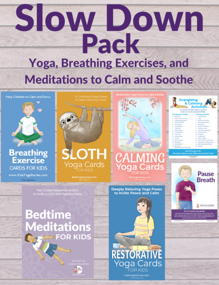 This Calm Down Yoga for Kids bundle includes 7 resources to help children relax, breathe, and be present in the moment.