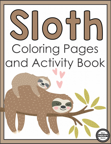 The Sloth Coloring Pages and Activity Book provides your students with a great tool to help them calm down.