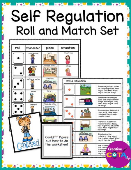 This Roll a Situation packet contains several roll a sentence and roll a situation boards that work for both younger and older students.