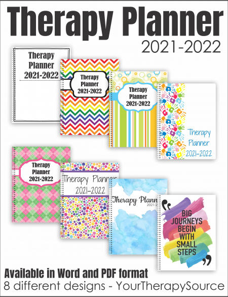 School Based Therapy Planner 2021-2022