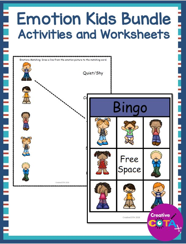 Created by a Certified Occupational Therapy Assistant, Identifying Emotions for Kids PDF, can be used with any self-regulation curriculum.