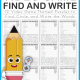 This Video GamesWord Search for Kids combines a word find with handwriting practice! Have fun while you practice handwriting with this video game theme.