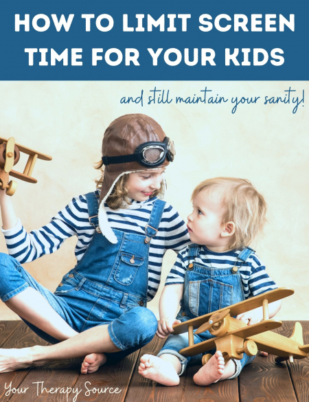 Your Therapy Source has created this 44 page guide to help you learn how to reduce your kids' screen time without losing your sanity.