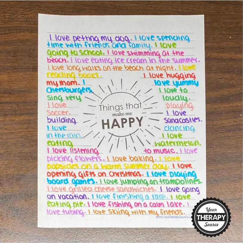 These FREE handwriting worksheets for middle schoolers or any age encourage creativity, written expression, emotions, and handwriting.