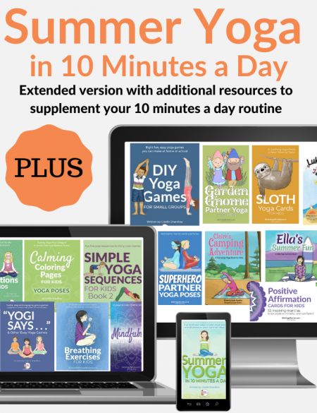 This summer bundle includes our popular Summer Yoga in 10 Minutes a Day....... PLUS all the corresponding yoga books, yoga card decks, and yoga games that made up this handy workbook of daily ideas.