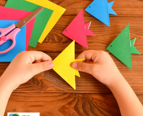 The easy origami fish for kids template is helpful to follow along. Download the step-by-step instructions on how to fold an origami fish.