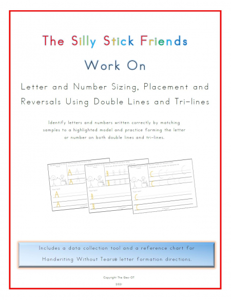 Created by Anna Long-Slade, OTR, this Silly Stick Friends Handwriting Packetcan help your students with letter and number formation.