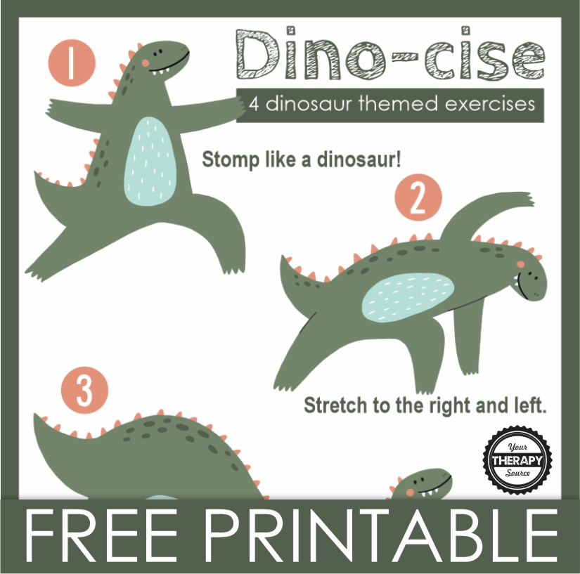 dinosaur gross motor activities
