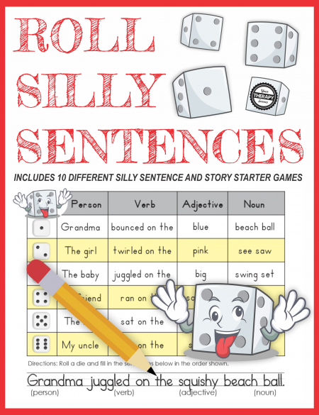 Silly Sentences for Kids includes 10 ready-to-play, game boards to generate sentences and stories that will have your students cracking up.