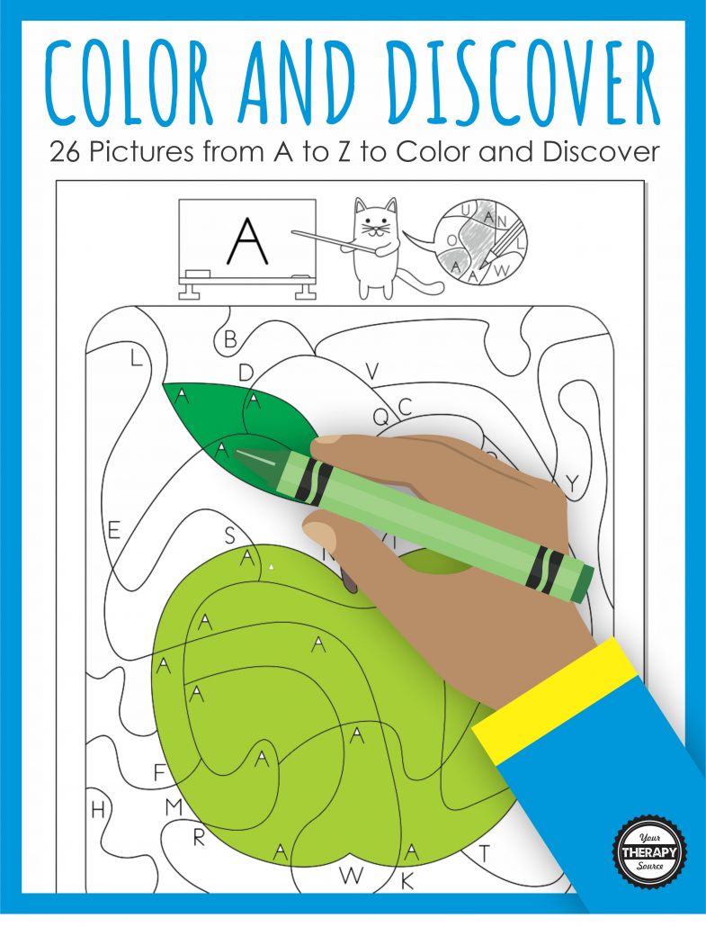 This Color and Discover PDF packet includes 26 pictures for children to find the correct letters, color in the space and reveal an image!