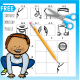 This Cut and Paste Exercise free printable will challenge student's fine motor, gross motor and visual motor skills - Your Therapy Source