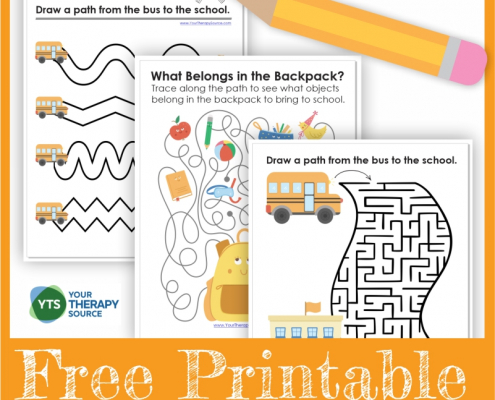 Free back to school mazes from Your Therapy Source