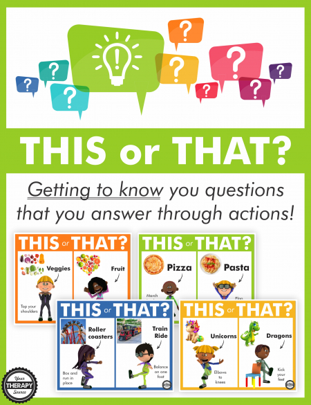The This or That Game - Getting to Know You Edition gets their brains working while helping you learn more about each student in your class.