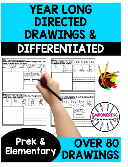 The HUGE, no prep, Directed Drawing and Writing for Kids, download is all set to go! Created by a school-based Occupational Therapist.