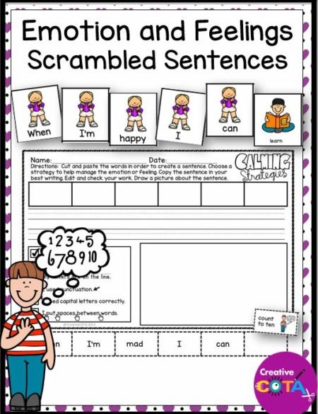 Emotions and Feelings Scrambled Sentences